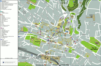 Map of central Lausanne